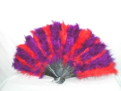 Red - Purple Feather Fan
