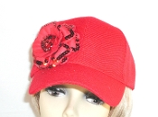 Simply Red on Red Baseball Cap - Red Hatters Baseball Cap Hat