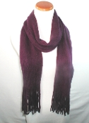 Purple Knit Scarf - Red Hat Lady Accessory