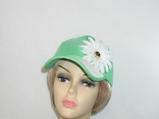 Green Fancy Woven Brim Baseball Cap