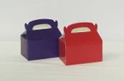 6 Red - 6 Purple Treat Boxes (12) - Red Hat Ladies Party Favor