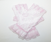 Pink Lace Fingerless Gloves - Red Hat Society Ladies Ladies Gloves