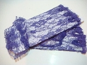 Purple Lace Fingerless Gloves - Red Hat Society Lady