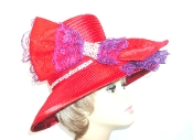 Stunning Satin Red Hat - Original Red Hat Society Color