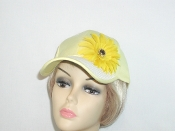 yellow Fancy Woven Brim Baseball Cap