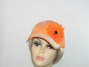Orange Fancy Woven Brim Baseball Cap