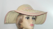 Beige Floppy Ribbon - Toyo Straw Hat