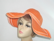 Orange Floppy Ribbon - Toyo Straw Hat
