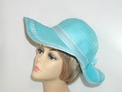 Turquoise Floppy Ribbon - Toyo Straw Hat
