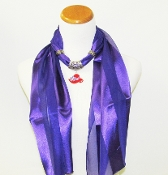 Purple Scarf - Red Red Hat Charm Slide - Myredhatstore.com exclusive
