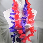 6 Leis - 3 Red 3 Purple - Red Hat Society Ladies Party Favor