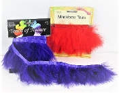 Marabou Feather Trim - 1 Red - 1 Purple - Red Hatters Decor