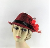 Flippant Fedora Red Hat - Christy Creations®