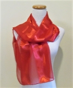 Red Striped Scarf - Red Hatters