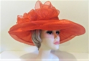 Over The Top Organza Hat - Red Hat Society Original Colors