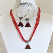 Red Hat Charm Necklace Earrings (MRH Store exclusive)