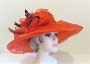 Opulent Organza Hat - Red Hat Society Original Colors
