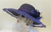 Purple Panache Hat - Red Hat Society Ladies Purple Hat